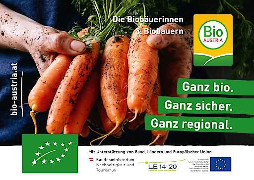 """Sujet der aktuellen Bio-Kampagne """"Ganz bio. Ganz sicher. Ganz regional."""" von BIO AUSTRIA"""