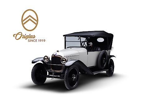 Der Citroën Typ A 10HP aus dem Jahr 1919 ist das erste Citroën Modell. 100 JAHRE CITROËN