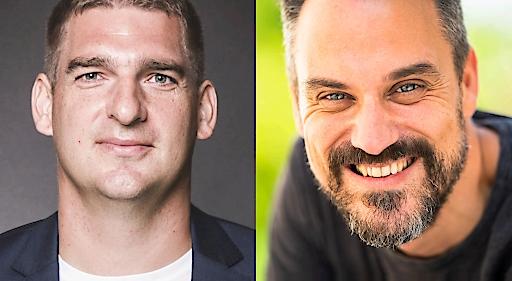 Robert Hutter (Gründer und CEO von FireStart) und Nahed Hatahet (Gründer und Geschäftsführer von HATAHET)