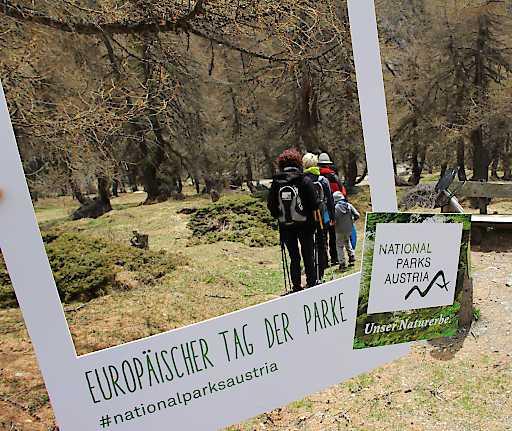 Neben erlebnisreichen Wanderungen im Nationalpark Hohe Tauern kann man am Europäischen Tag der Parke viele Ausstellungen kostenlos Indoor besuchen oder in Wien im Tiergarten Schönbrunn Nationalparkluft schnuppern.