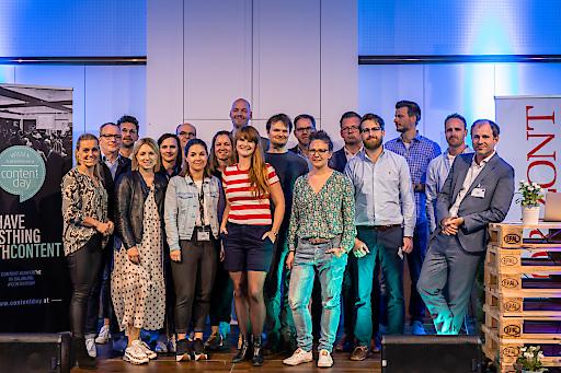 Insgesamt 19 internationale Speaker sorgten für eine abwechslungsreiche Agenda rund um das Thema Content-Marketing.