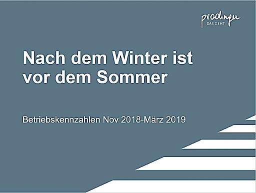 Kennzahlen von Prodinger Winter 2018/19