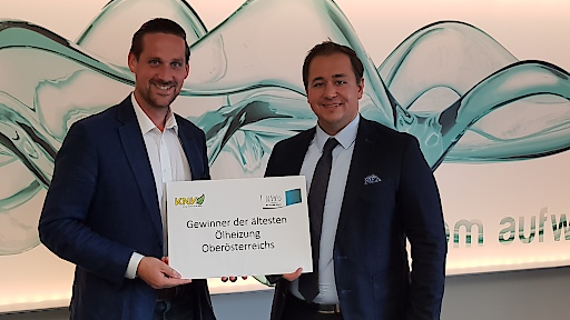 Gewinner Thomas Brindl mit KWG Geschäftsführer DI Mag. Peter Zehetner