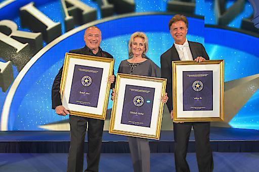 """Die drei neuen Mitglieder der """"Austrian Event Hall of Fame"""": Rudolf John, Elisabeth Gürtler und Walter Ilk"""