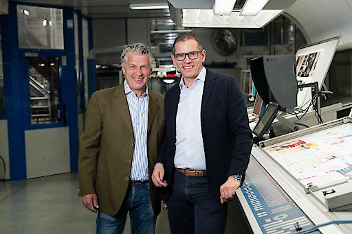 von links nach rechts: Thomas Holzhuber von holzhuber impaction und Peter Berger von Druckerei Berger