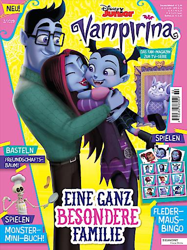 """Cover der ersten Ausgabe von Disney Junior Vampirina / Weiterer Text über ots und www.presseportal.de/nr/8146 / Die Verwendung dieses Bildes ist für redaktionelle Zwecke honorarfrei. Veröffentlichung bitte unter Quellenangabe: """"obs/Egmont Ehapa Media GmbH/Egmont Ehapa Media/Disney"""""""