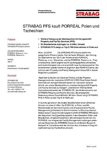 EANS-News: Strabag PFS kauft Porreal Polen und Tschechien