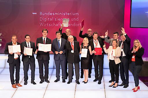 (c) www.annarauchenberger.com / Anna Rauchenberger - Wien, Austria - 05.06.2019 - qualityaustria Winners Conference und Verleihung Staatspreis Unternehmensqualitaet. FOTO: Gruppe aller Preistraeger