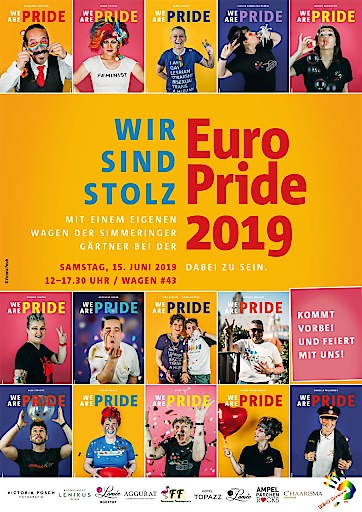 "Plakat mit Bilderserie ""We are Pride"""