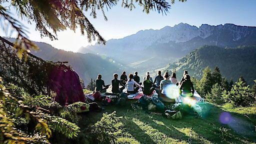 Yoga Workshop am Brentenjoch im Kufsteinerland