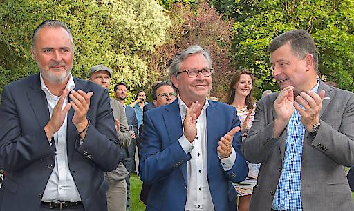 Landeshauptmann Hans Peter Doskozil, ORF Generaldirektor Alexander Wrabetz und Gastgeber Stefan Ottrubay, Direktionsrat der Esterhazy Stiftungen, zeigten sich von den ersten musikalischen Kostproben begeistert.