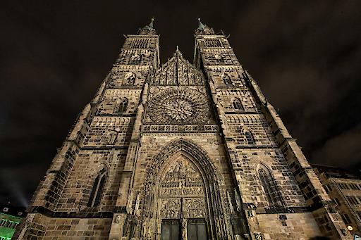 """Einer der Spielorte der ION ist auch die Nürnberger Lorenzkirche. Weiterer Text über ots und www.presseportal.de/nr/113984 / Die Verwendung dieses Bildes ist für redaktionelle Zwecke honorarfrei. Veröffentlichung bitte unter Quellenangabe: """"obs/Congress- und Tourismus-Zentrale Nürnberg/Florian Trykowski"""""""