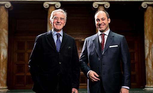 Eigentümer der ehemaligen Bankzentrale Dr. Herbert Koch (links) gemeinsam mit dem geschäftsführenden Gesellschafter der PEMA Holding Mag. Markus Schafferer.