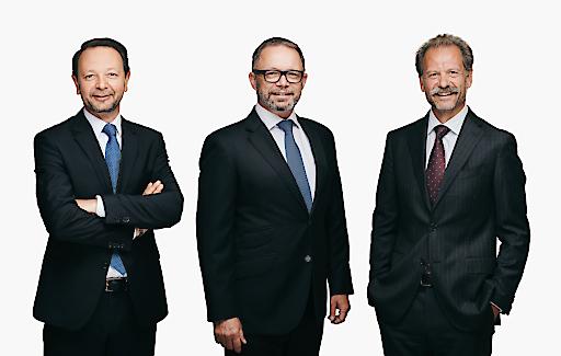 Merkur Vorstandsdirektor Christian Kladiva, Merkur Generaldirektor Mag. Gerald Kogler und Merkur Vorstandsdirektor Ing. Andreas Stettner (v.l.n.r.)