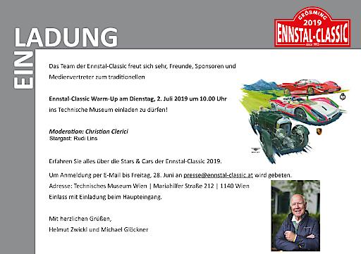 Einladung Pressekonferenz Ennstal-Classic