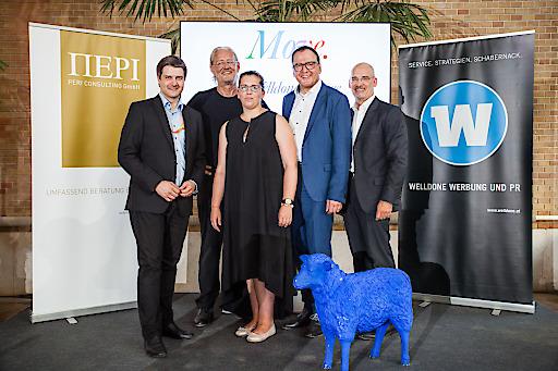 Im Bild v. l.: Martin Schaffenrath, Robert Riedl, Birgit Bernhard, Matthias Krenn, Hanns Kratzer