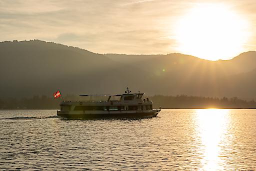 Die WolfgangseeSchifffahrt in der Abendsonne