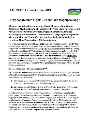 Machbarkeitsstudie als Inszenierung der Glyphosat-Lobby