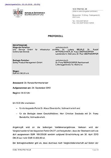 Offener Brief an den Bürgermeister der Stadt Linz. Betrifft: Ländenwidmung Handelshafen Linz.