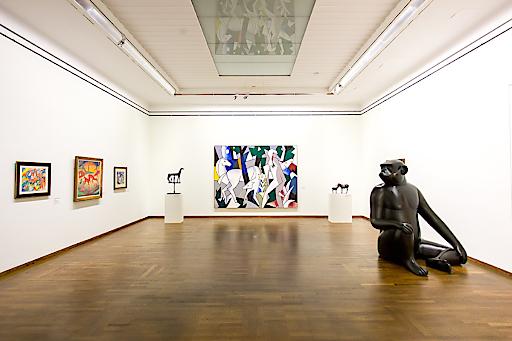 """Ausstellungsansicht """"WOW! The Heidi Horten Collection"""" im Leopold Museum, 2018"""