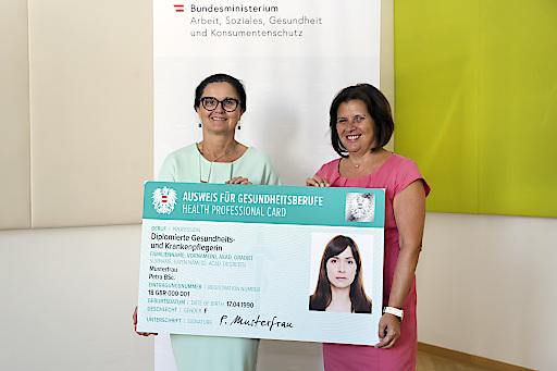Seit 1. Juli 2018 haben AK und Gesundheit Österreich GmbH als Behörden in Umsetzung des Gesundheitsberuferegister-Gesetzes rund 170.000 Beschäftigte in Gesundheitsberufen registriert und mit einem offiziellen Berufsausweis ausgestattet.