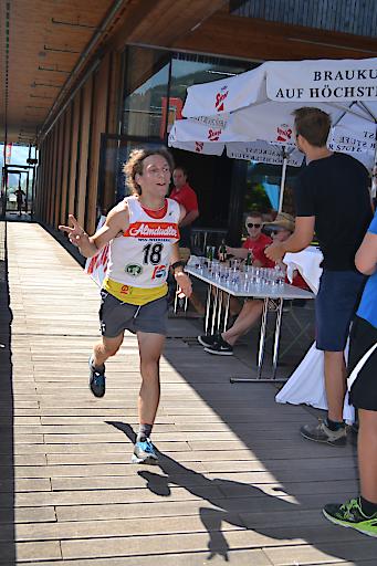 Marathonsieger Robert Leitner im Zieleinlauf