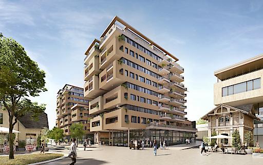 Wohnprojekt Korso im Viertel Zwei vom österreichischen Architekten Martin Kohlbauer