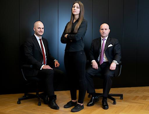 Helmut Kogler, Florian Koschat und Jasmin Okcu von PALLAS CAPITAL