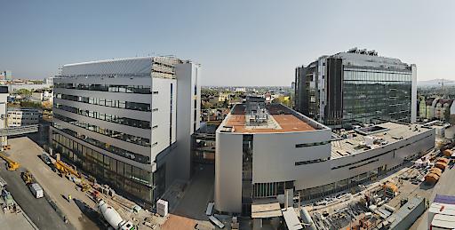 Panorama der Baustelle, Boehringer Ingelheim RCV