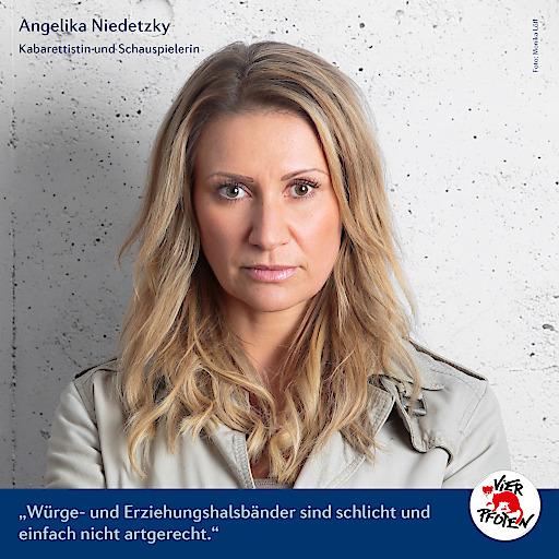 Angelika Niedetzky für VIER PFOTEN
