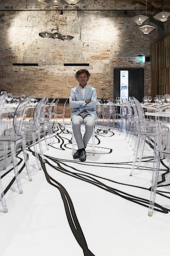 Guy Martin für das Dinner-Projekt zwischen illy, Guide MICHELIN und Biennale di Venezia