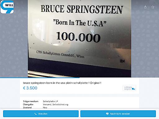 Original Platin Bruce Springsteen Platte auf willhaben