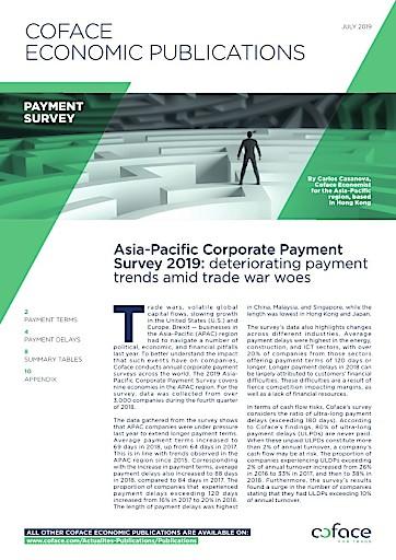 Coface Zahlungsstudie: Unternehmen in Asien stehen unter Druck