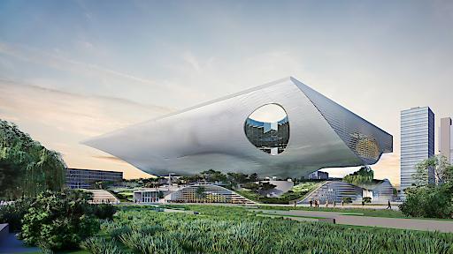 Rendering Außenansicht Science & Technology Museum in Xingtai