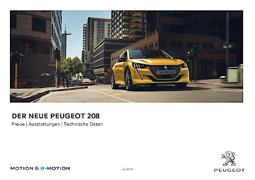 Der neue PEUGEOT 208: Als 100% Elektroauto, als Diesel oder als Benziner erhältlich