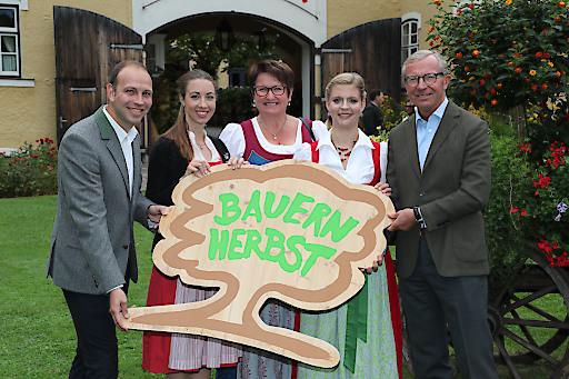 """Noch nie war der Bauernherbst-Baum, offizielles Logo des Salzburger Bauernherbst, so passend wie in diesem Jahr mit dem Motto: """"Von Wurzeln und Wipfeln""""."""