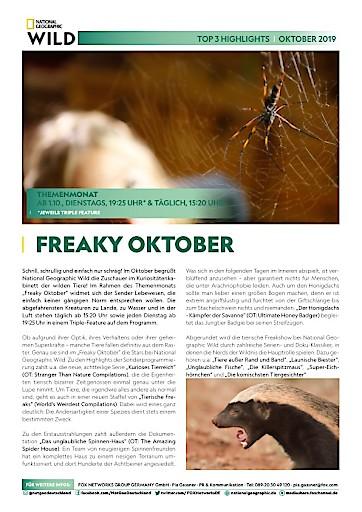 Top 3 Highlights im Oktober 2019 auf den Sendern FOX, National Geographic und National Geographic WILD (FOTO)