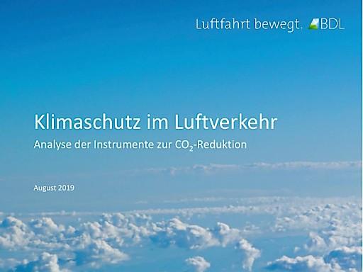 BDL setzt auf internationales System der CO2-Bepreisung - Luftfahrtverband legt Analyse geeigneter Instrumente für mehr Klimaschutz vor