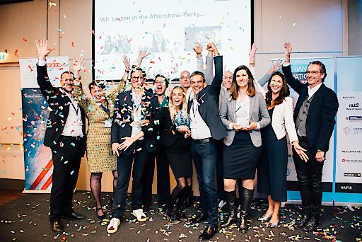 Siegerehrung des ICEBERG innovation leadership award 2018,