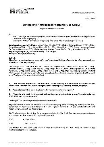 FPÖ-Amesbauer: SPÖ-Kampus verweigert Auskunft zu gewaltbereiten Asylwerbern in der Steiermark!