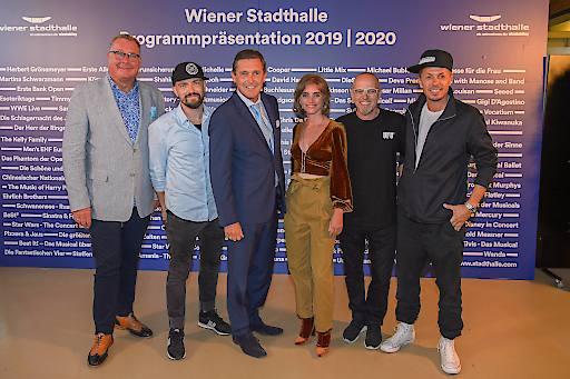 Wolfgang Fischer, Michael Klimas, Peter Hanke; Carola Lindenbauer, Thomas D, Michi Beck; Programmpräsentation 2019/20, Wiener Stadthalle, Studio F