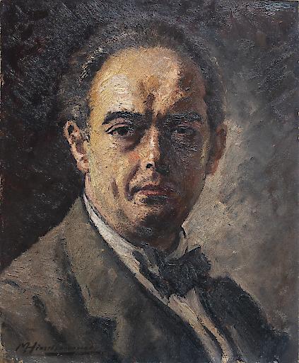 Max Hirschenauer, Porträt des Kunsthistorikers Dr. Justus Schmidt, o. D. (um 1930) NORDICO Stadtmuseum Linz