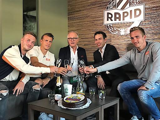 Christopher Dibon, Christoph Peschek, Andy Marek, Stefan Schwab und Philipp Schobesberger (v.l.n.r.)