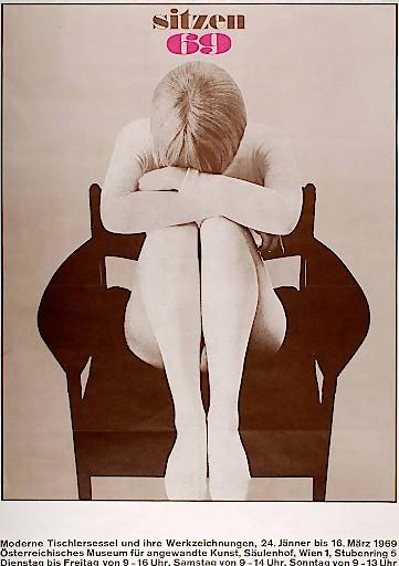 Christoph Schartelmüller, Poster der Ausstellung Sitzen 69, Wien, 1969