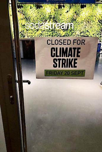 SodaSteam weltweiten unterstützt Klimastreik am 20. September - Büros und Online-Shop wegen Klimastreik geschlossen