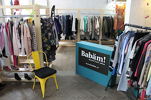 Babäm 2nd-Hand-Shop in der Lindengasse