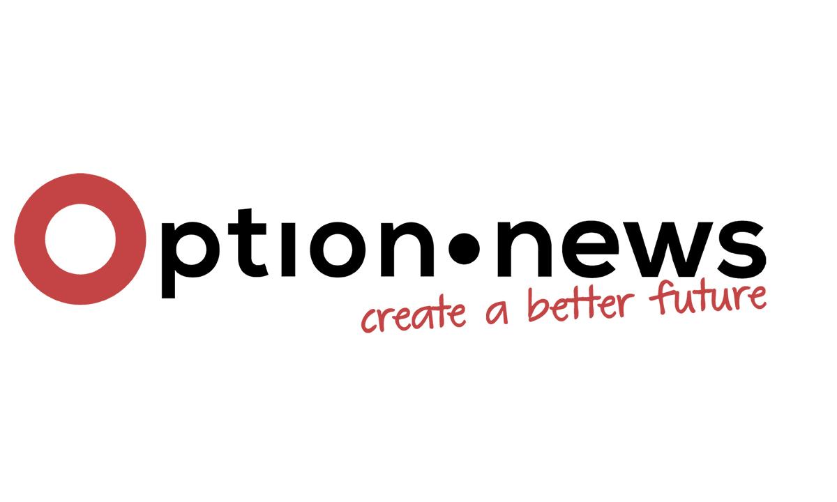 Das Logo von option.news, der neuen social media Plattform zu Nachhaltigkeit und Zivilgesellschaft aus Wien.