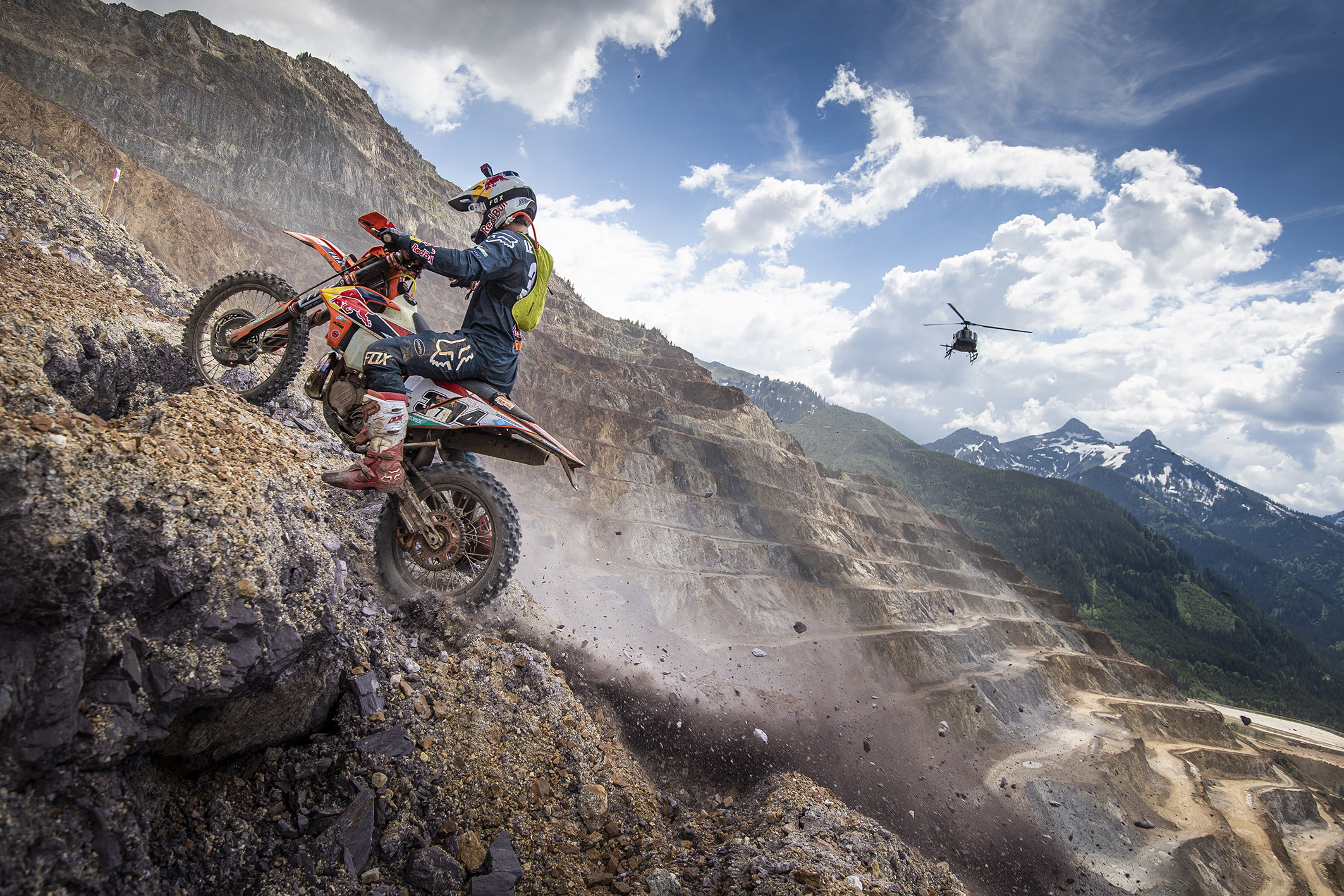 Manuel Lettenbichler races during the Red Bull Hare Scramble 2019 in Eisenerz, Austria on June 2, 2019 // Philip Platzer/Red Bull Content Pool // AP-1ZH9SUVSN2111 // Usage for editorial use only // Please go to www.redbullcontentpool.com for further information. //