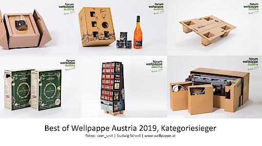 Gewinner der Wellpappe Austria Awards 2019