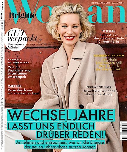 """Cover BRIGITTE WOMAN (11/2019) / Weiterer Text über ots und www.presseportal.de/nr/63183 / Die Verwendung dieses Bildes ist für redaktionelle Zwecke honorarfrei. Veröffentlichung bitte unter Quellenangabe: """"obs/Gruner+Jahr, Brigitte Woman"""""""